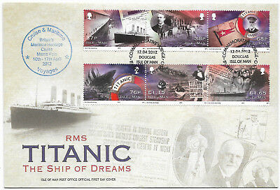 Isle of Man 2012 FDC RMS Titanic The Ship of Dreams