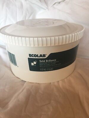 Ecolab Concentrated Solid Brilliance Rinse Additive Brand New