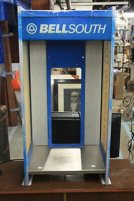 Vintage Bell South Bell System Payphone Telephone Phone Booth Enclosure L@@K!!!