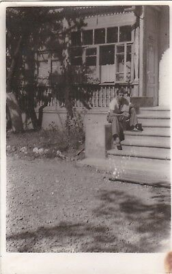 1950s Handsome young man on the stairs gay interest Russian Soviet photo