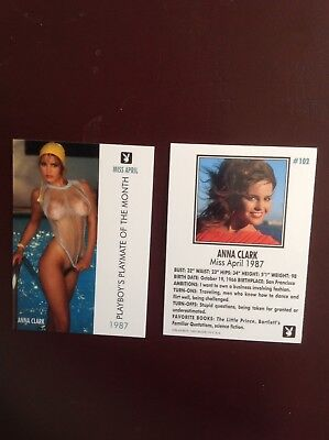 Playboy Anna Clark April, 1987 Card