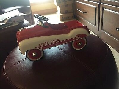 """state farm collectibles Pedal Car 11"""" Long Signed"""