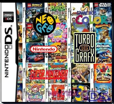4000 IN 1 Nes SNES Neo Geo GBC TG16 NDS for NDS NDSL NDSi 3DS 2DS