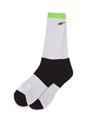 Alpinestars SMASH Grey/Black/Yellow Arch Support Ankle Seamless Toe Socks