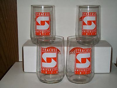 Ncaa Syracuse University Orange  Vintage Carrier Dome Old Logo Glasses  Lot Of 4