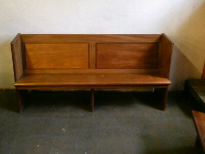 vintage solid hardwood bench pew settle courier available 1713
