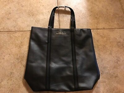 0c5b6fe305ed NWT! GIVENCHY PARFUMS Black Faux Leather Gloss Tote Shoulder Travel ...