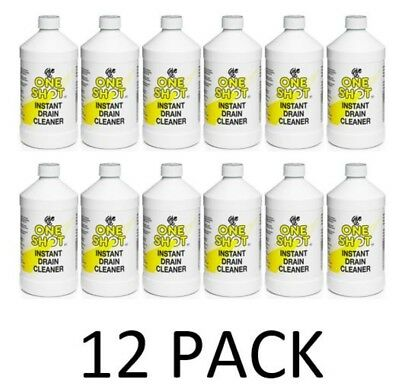 12 x One Shot Drain Cleaner 1 Litre Bottles - Free and Fast Delivery