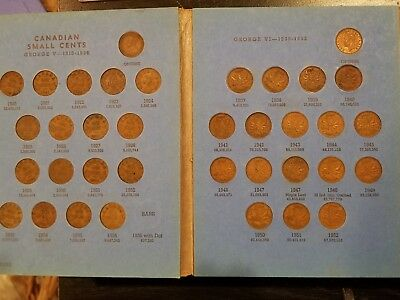 Canadian Small Cent Collection- 1920-1960 incl. Key dates: 1923, 1925 (#btc)