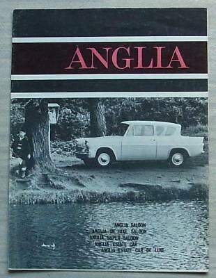 FORD ANGLIA 105E Car Sales Brochure 1963-64 #H4536/9/63 DE LUXE Super ESTATE