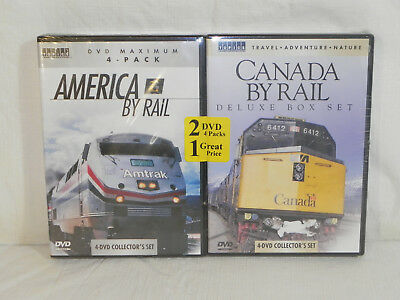 America & Canada By Rail (8 DVD Set) 100% New and Sealed