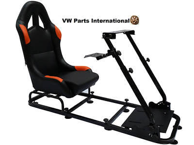Car Gaming Racing Simulator Bucket Seat Frame Sim PC PS3 PS4 XBox Black/Orange