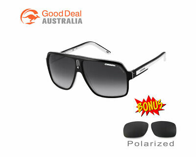 NEW Carrera Sunglasses 27 XSZ9O Black White Grey Gradient Sports Racing  Cycling d6b1d71679a5