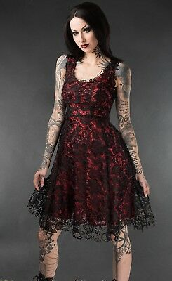 Red Art Deco Dress, Beautiful, Lace, Dark Sexy Goth, Party, BLAIZE MERCH