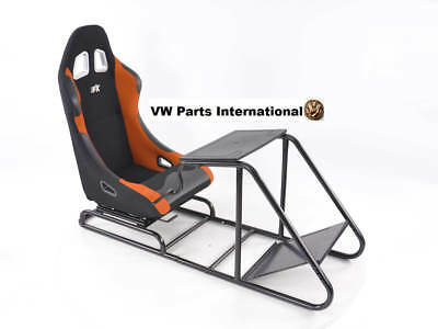 Car Gaming Racing Sim Frame Chair Bucket Seat PS4 XBox PS3 Black/Orange Forza