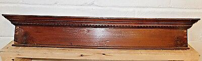 Antique Wooden Victorian PEDIMENT Header DOOR Trim Egg & Dart Molding ORNATE
