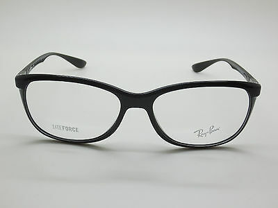 0503b91f873 NEW Authentic Ray Ban RB 7024 5206 LITEFORCE Shiny Black 56mm RX Eyeglasses