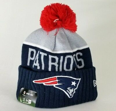 8f9df504e3a AUTHENTIC NEW ENGLAND Patriots New Era NFL On Field Beanie Knit Hat ...
