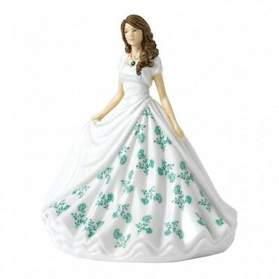 Royal Doulton Birthstone Petites Figurine of the Month - May Emerald