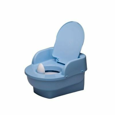 Blue Potty Throne, Chair, Mini Toilet with lid, Potty Training