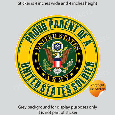 AR-2254 Proud Parent of a US Army Soldier Military Bumper Sticker Window Decal
