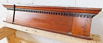 1890s Wooden Recessed DOOR PEDIMENT Header DENTIL Molding Victorian Style ORNATE
