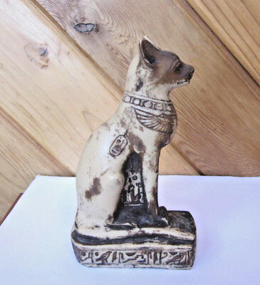 Egyptian Cat Statue  Bastet Bast Egyptian Cat Goddess Hieroglyphics And Symbols