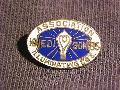 1885 Edison Association Illumination Co.s Pin ORIGINAL $9.99 No Res