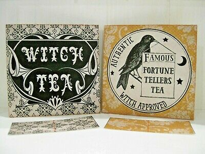 FORTUNE TELLER PSYCHIC Witch Tea Bag Envelopes Party Favors (Qty-6)
