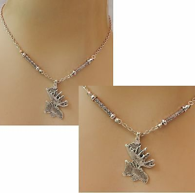 Moose Necklace Silver Pendant Jewelry Handmade NEW Accessories Fashion Chain