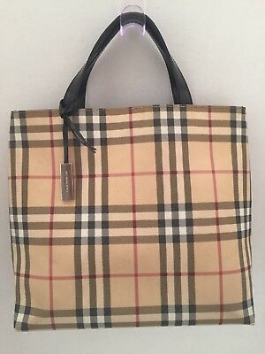 ec7e2cf5062d AUTHENTIC BURBERRY LONDON Nova Check Coated Canvas Small Tote Bag ...