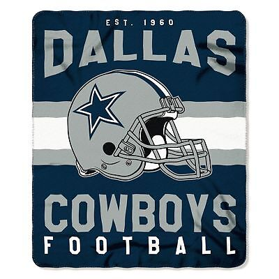 "Dallas Cowboys NEW 50"" x 60"" NFL Fleece Throw Blanket"