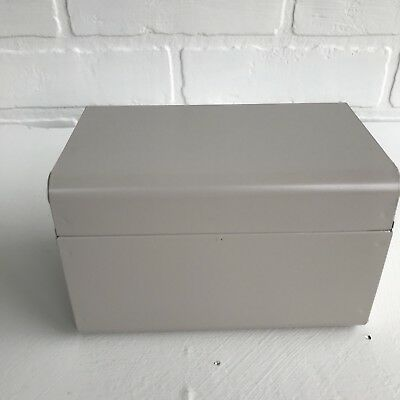 VINTAGE METAL 3X5 Index Card File Recipe Box with Alphabetical Card  Organizers