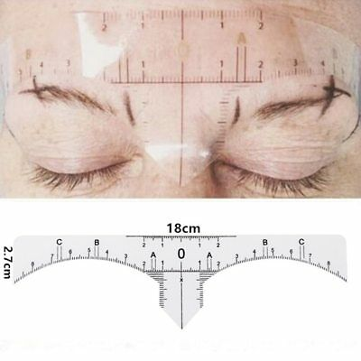 Disposable Microblading Ruler Stickers Permanent Tattoo Eyebrow Measure Tools