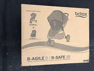 Britax B-Agile/B-Safe 35 Travel System, Black Brand New! Free Shipping!