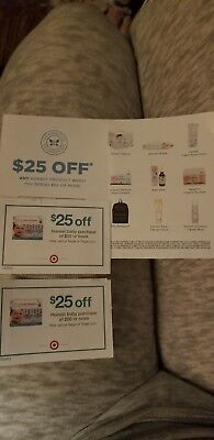 (3) $25 Off $50 Honest Company Baby Manufacture  Target Coupons Exp. 10/31/18