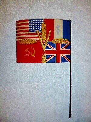 Ww2 Flag  Rare French Victory/liberation 1945. Russian, Britain, U.s. , France