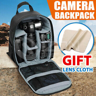 Waterproof Shockproof SLR DSLR RedCamera Bag Case Backpack For Canon Sony Nikon
