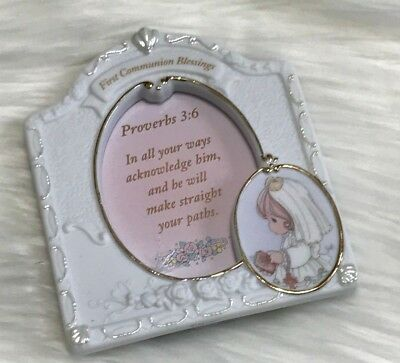 """Enesco, Precious Moments, First Communion Girl Porcelain Frame, approx. 4x4.5"""""""