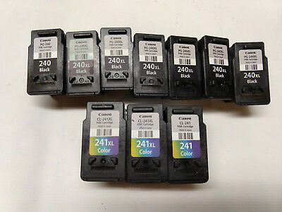 Empty printer ink cartridges, lot of 10, never refilled