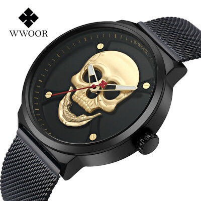 BIDEN 2018 Mens Watch Top Brand Luxury Fashion Creative Steel Gold Black watches