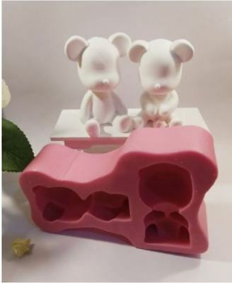 Silicone Handmade (Two seated bear 2D) Soap Mould Mold