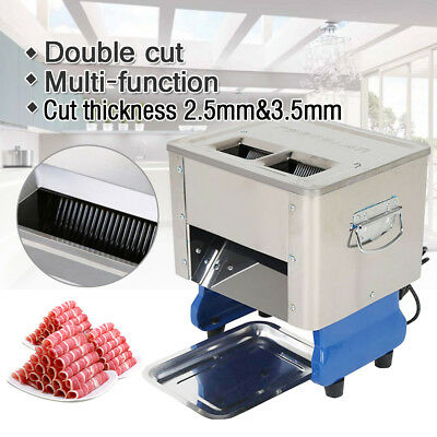 Double Slice Electric Meat Slicing Shredding Cutting Machine Meat Cutter Slicers