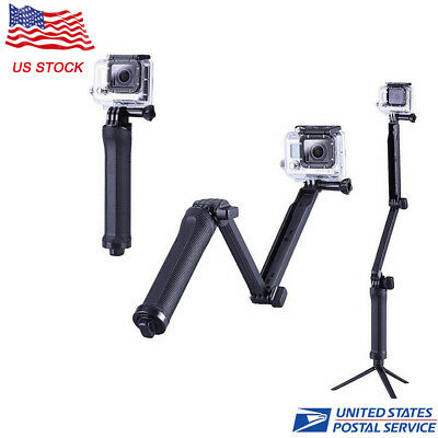 3-Way Handle Grip Arm Selfie Stick Tripod Mount For GoPro Hero  2 3 4 5 6