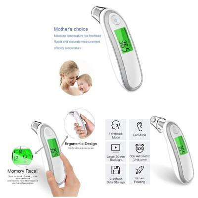 Digital Medical Thermometer Forehead and Ear IR Infrared for Adult and Baby
