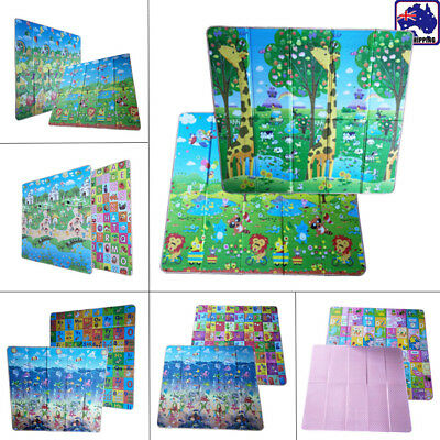 200*180*1cm Foldable Baby Kid Child Play Mat Floor Rug Picnic Crawling BPA0015