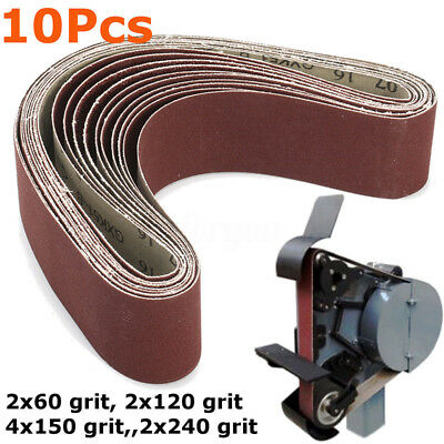 New Set Lasting 60/120/150/240 50x686mm Mixed Sanding Inches Grit Belts Sander