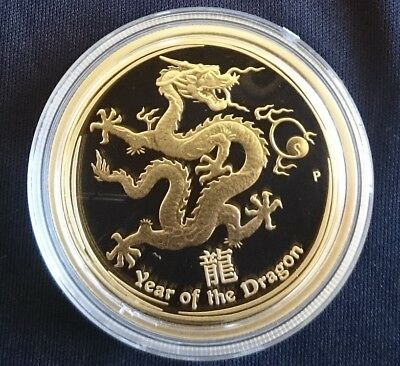 Australian Lunar Dragon 2012 Perth Mint 1 oz gold proof coin