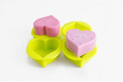 Silicone Four balls plain Hearts Silicone soap Mould plaster Mold