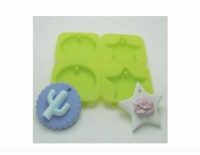 Silicone Tablet Four-Ball Mini-Round / Star Silicone soap Mould plaster Mold